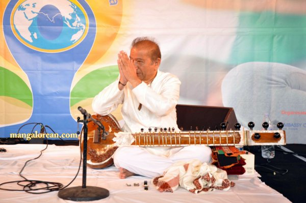 Indian classical music, followed by yoga1