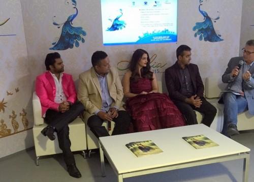 Producer Sachin Joshi Director Sanjay Gupta And Actress Aishwarya Rai Bachchan.