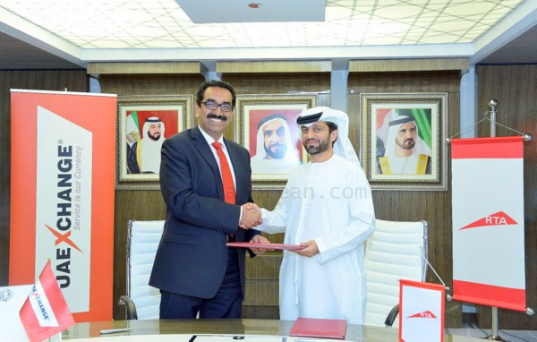 Y-Sudhir-Kumar-Shetty-President-UAE-Exchange-and-Abdullah-Yousef-CEO-Rail-Agency-signing-the-agreement