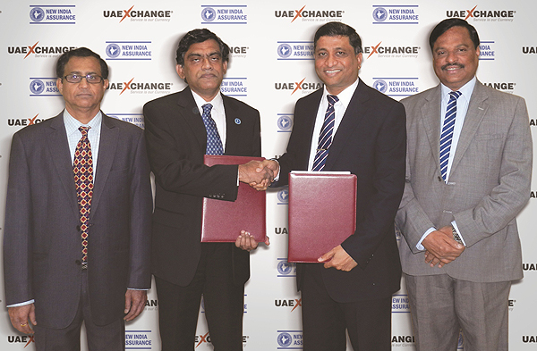 C S Ayyappan (COO-Dubai Operations The New India Assurance Company) and Varghese Mathew
