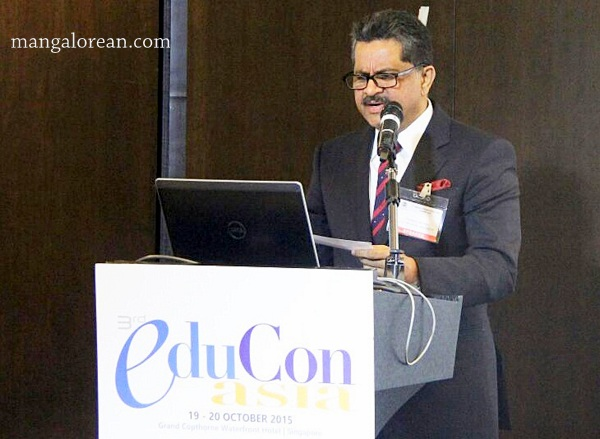 1-Thumbay Moideen Addresses 7th Annual Higher Education Summit Asia in Singapore (1)