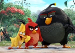 Chuck (Josh Gad), Red (Jason Sudeikis), Bomb (Danny McBride) in Columbia Pictures and Rovio's ANGRY BIRDS. (PRNewsFoto/Columbia Pictures)