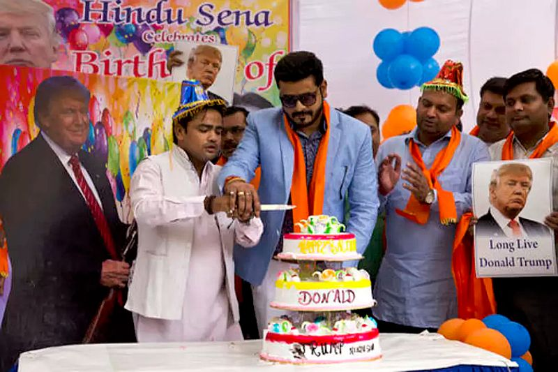 Trump gets a 'Piece of Cake' from Hindu Sena-1