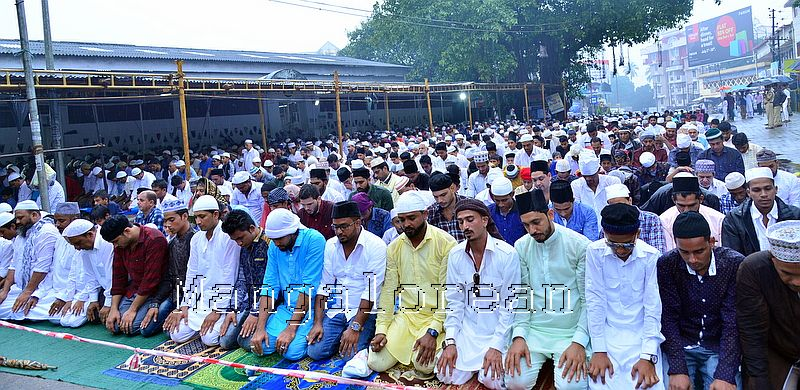 Muslim Fraternity Celebrates Eid-Ul-Fitr in City Amid Rain (56)