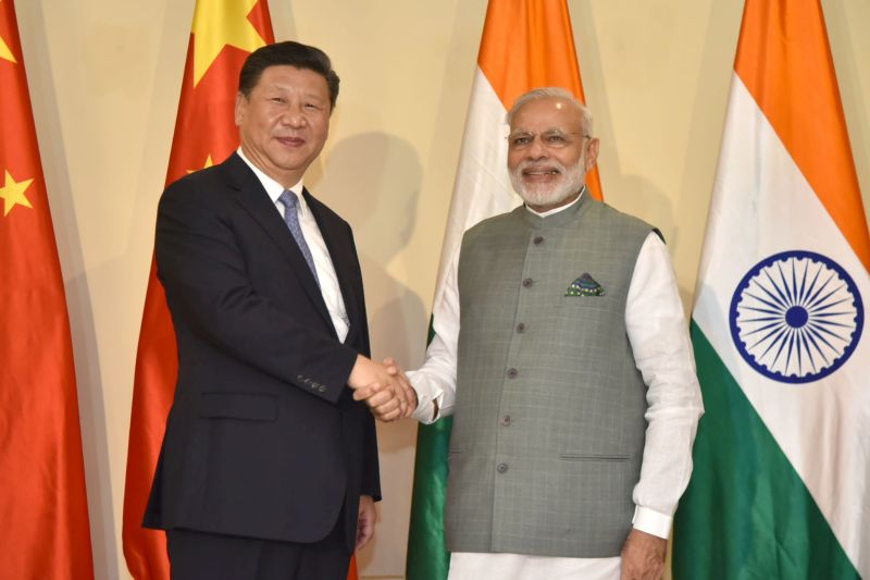 The Prime Minister, Shri Narendra Modi meeting the President of the People's Republic of China, Mr. Xi Jinping, before the BRICS Summit, in Goa on October 15, 2016.