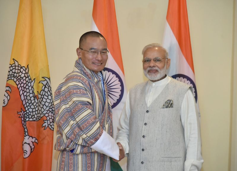 The Prime Minister, Shri Narendra Modi meeting the Prime Minister of Bhutan, Mr. Tshering Tobgay, on the sidelines of the BRICS Summit, in Goa on October 16, 2016.