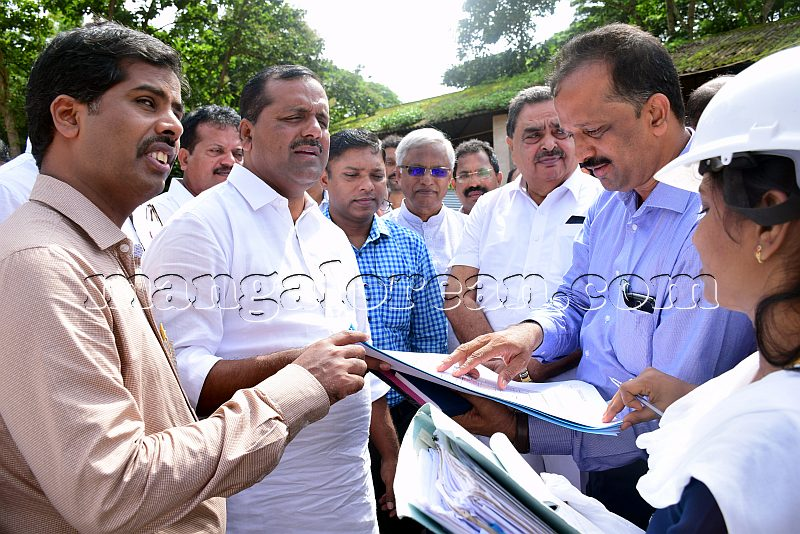 minister khader new dc office sight inspection mangalorean
