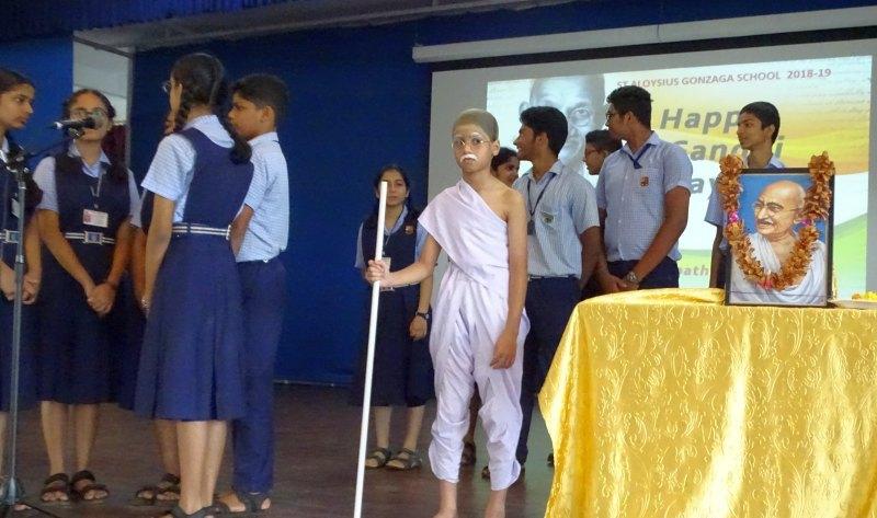 St Aloysius Gonzaga School Celebrates Gandhi Jayanthi