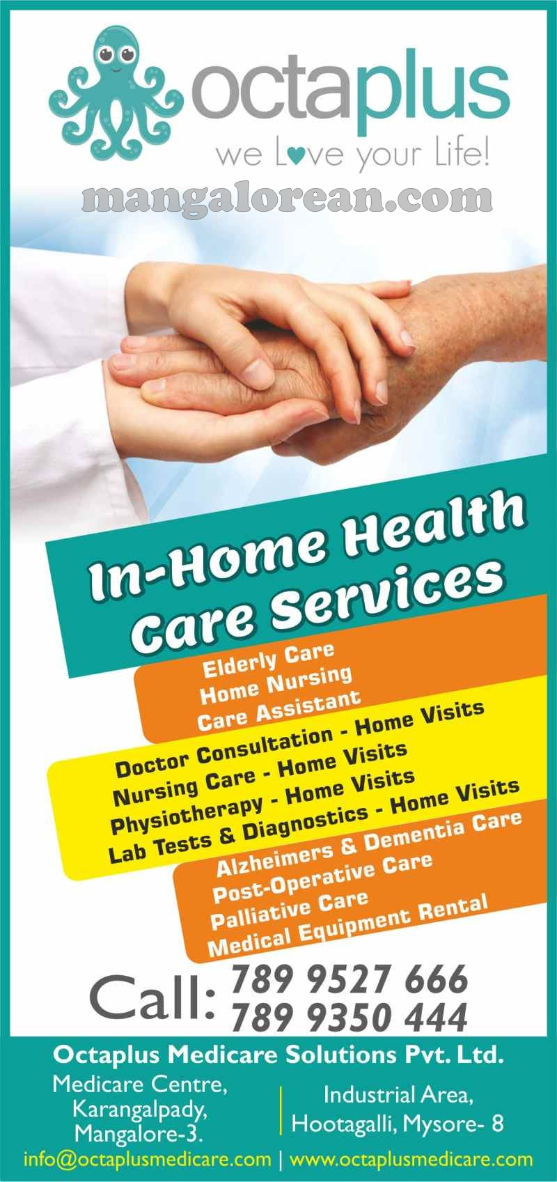 We Love Your Life! OCTAPLUS- Home & Corporate Healthcare